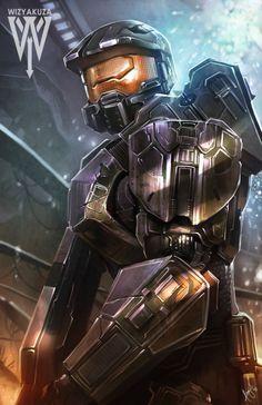 Halo - fanart by wizyakuza (Ceasar Ian Muyuela)
