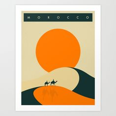 Morocco+Travel+Poster+Art+Print+by+Jazzberry+Blue+-+$19.00