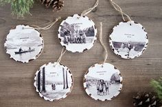 Trim the tree with these 10 minute photo keepsake ornaments. They take no time at all and it will mean so much to fill the tree with family memories.