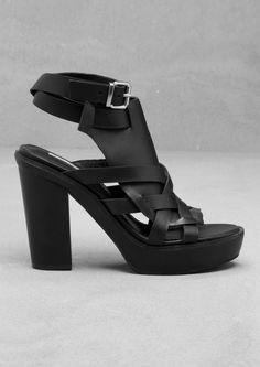 Block heel sandals   Black   & Other Stories
