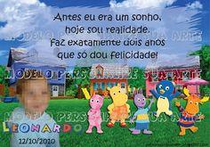 Personalize sua Arte: Lembrança Aniversário Infantil Backyardigans - Imã...