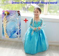 $7.98 (Buy here: https://alitems.com/g/1e8d114494ebda23ff8b16525dc3e8/?i=5&ulp=https%3A%2F%2Fwww.aliexpress.com%2Fitem%2FElsa-dress-girls-costumes-for-kids-party-dresses-vestidos-infantis-Congelados-vestido-elsa-de-festa-fantasia%2F32279100551.html ) New year costumes for kids dress elbise vestidos infantis toddler girl clothing christmas vestido elza de festa disfraz infantil for just $7.98