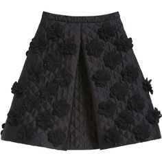 Flower Grid Skirt Black Double Faced Silk (10.805 HRK) ❤ liked on Polyvore featuring skirts, bottoms, saias, black, silk pleated skirt, dot skirt, pleated skirt, a line skirt and metallic a line skirt