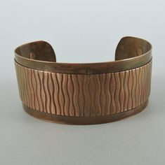 Double Layer Copper Cuff Bracelet 6 by 1 inches by HCJewelrybyRose