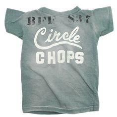 DENIM DUNGAREE(デニム&ダンガリー):ビンテージテンジク CIRCLE CHOPS Tシャツ 29LKH淡カーキ の通販【ブランド子供服のミリバール】