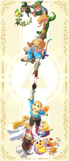 As soon as I stumbled across this Legend of Zelda artwork from artist John Su, a host of emotions rushed over me. First my eyes were immediately drawn to the Breath of the Wild versions of Link and Zelda, as those are the centerpiece, . The Legend Of Zelda, Legend Of Zelda Memes, Legend Of Zelda Breath, Legend Of Zelda Timeline, Legend Of Zelda Poster, Link Zelda, Pokemon Mew, Zelda Twilight Princess, Character Art