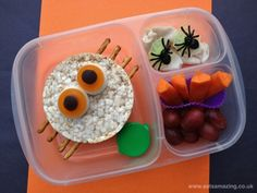 Eats Amazing - Spider Themed Bento Lunch for Halloween