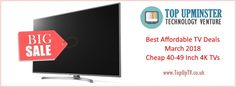 Are you looking for the best deals of 4K UHD Smart TV for the month of March 2018? Then you've come to the right place March Month, Deal Sale, 4k Uhd, Smart Tv, Tvs, Budgeting, Technology, Electronics, Best Deals