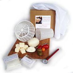 Artisan Cheese Making Kit - Make mozzarella, ricotta, goat chevre, paneer and queso blanco Grow and Make http://www.amazon.com/dp/B00BLMXVDY/ref=cm_sw_r_pi_dp_-EkAwb1QCVBVF
