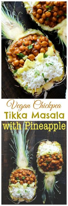 Vegan Chickpea Tikka Masala with Pineapple - Rich, healthy, flavorful, and nutritionally packed meal with a fruity, pineapple twist. NeuroticMommy.com #vegan #healthy