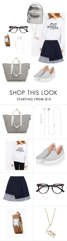 """""""going away for the weekend"""" by design360 ❤ liked on Polyvore featuring BAGGU, Dylan's Candy Bar, Topshop, WithChic, Ace, By Philippe and MANGO"""