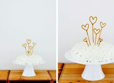 sparkly cake toppers