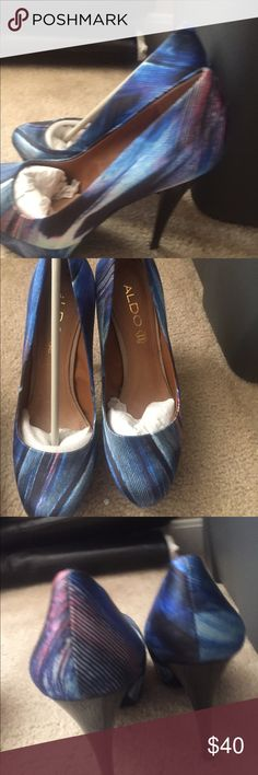 "Aldo heels Aldo women multi-color high heels    Brand New. About 5.5"" heel ALDO Shoes Heels"