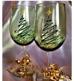 Hand paint holiday glasses