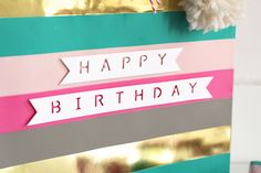 DIY Gift Wrap with the Word Punch Board by Kimberly Crawford for We R Memory Keepers