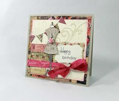 Dress form Happy Birthday Card by @debbiemom23cs using @primamarketing for @therubbercafe #card #creativecafeKOTM