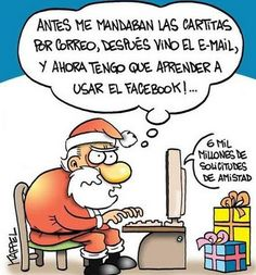 """Papá Noel, """"Y ahora tengo que aprender a usar el Facebook."""":"""
