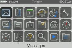 Blackberry OS icons for interface design