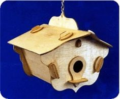 No-Fastners Bird House Scroll Saw Pattern