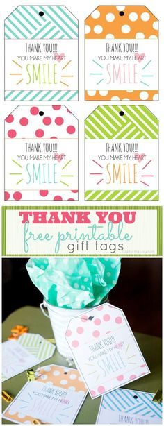 You Make my Heart Smile {Thank You Gift Printable} - Capturing Joy with Kristen Duke Thank You Free Printable Gift Tags. cute gift tags for your next thank you gift. If you appreciate arts and crafts a person will really like this site! Free Printable Gift Tags, Printable Labels, Free Printables, Thank You Printable, Printable Quotes, Thank You Tags, Thank You Gifts, Craft Gifts, Diy Gifts