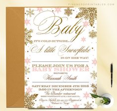 Baby its cold outside! Baby shower invitation Baby shower, baby its cold outside, winter baby shower invitation, glitter gold, invitation, gender neutral, little boy, girl
