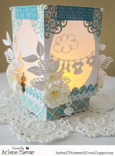 From our Design Team! Project by Arlene Cuevas featuring these Dies - Baby Clothesline Banner, Baby Rattle, Scroll Corner, Rocking Horse, Stork, Open Leaf Flourish,  Berry Flourish, Stitched Scallops Border. Curly Clouds (March 2015 Club Kit :-) Shop for our products here - shop.lalalandcrafts.com  More Design Team inspiration here - http://lalalandcrafts.blogspot.ie/2015/09/inspiration-wednesday-metal.html