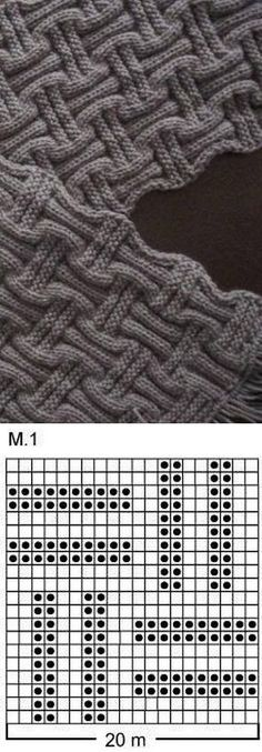 ШАРФЫ, ШАПКИ И СНУДЫ - Kötésminták - Knitting Knitting Stiches, Knitting Charts, Lace Knitting, Knitting Patterns Free, Knit Patterns, Crochet Stitches, Stitch Patterns, Knit Crochet, Tricot Simple