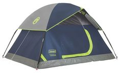 Coleman Sundome Tent, Navy - The Coleman Sundome Dome Tent is designed for quick and easy setup, so you can spend more time enjoying the outdoors. Great for camping in warm weather, this backpacking tent is designed with large windows an Best Backpacking Tent, Camping 2, 4 Person Camping Tent, 6 Person Tent, Hiking Tent, Best Tents For Camping, Cool Tents, Outdoor Camping, Outdoor Gear