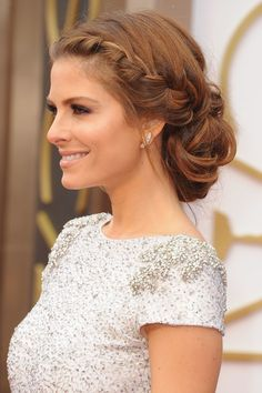 Maria Menounos' Oscars 2014 Hairstyle - braided updo
