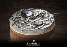 http://www.horloger-paris.com/fr/2584-occasions #Calibre #Manufacture Phase de Lune de Audemars Piguet. (Photography by Stilgarnaib) #AudemarsPiguet #AP