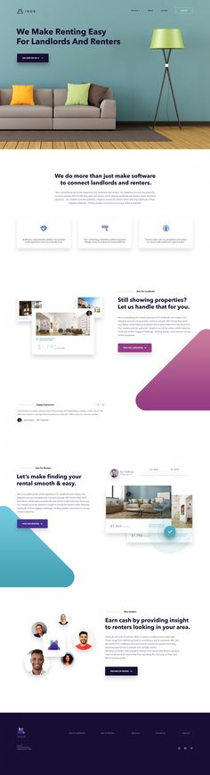 Connecting Renters & Landlords - Marketing Site | #ui #ux #userexperience #website #webdesign #design #minimal #minimalism #art #white #orange #blue #red #violet #yellow #data #app #ios #android #mobile #clean #blog #theme #template #chart #graphic #travel #map #ecommerce #fashion