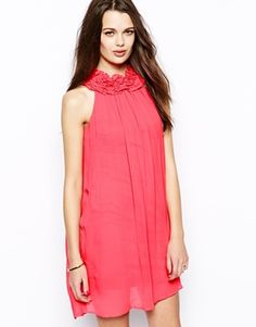 French Connection Georgie Georgette Halter Neck Silk Dress at ASOS. Wedding Bridesmaid Dresses, French Connection, Halter Neck, Silk Dress, Beautiful Outfits, Fashion Online, Fashion Beauty, Asos, Hair