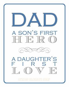 Father's Day Free Printable and Quotes