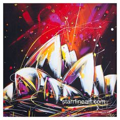 Sydney opera house by STARR ...... starrfineart.com Australian Artists, Opera House, Sydney, Adventure, Abstract, Artwork, Painting, Paint Palettes, Paint