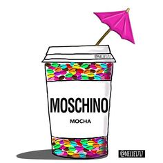 Moschino Mocho with a little spice ;) Fashion drawing by #nelleillustrations © Nelle illustrations 2016