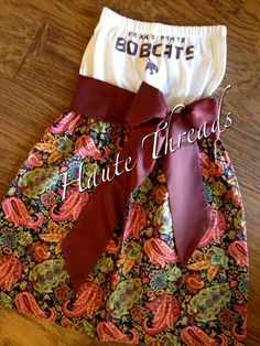 Texas State BOBCATS College Gameday Tube Dress by hautethreadsboutique, $70.00.  Ready to ship: www.hautethreadsboutique.blogspot.com