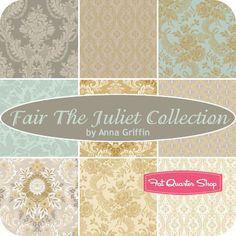 Fair Juliet Collection Fat Quarter Bundle Anna Griffin Fabrics