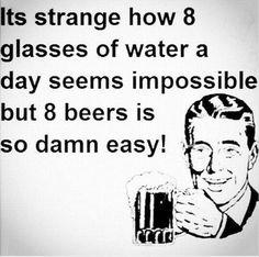 Water vs. Beer