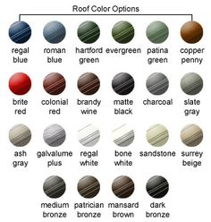 Roof Color Options