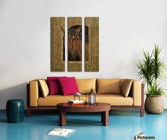 Triptych, 3 split,  stretched, canvas, multi panel, prints, for sale, artwork,home,office,decor,wall,art,painting,contemporary,modern,figurative,beautiful,images,awesome,cool,artistic,fine,oil,items,ideas, horse, stable, window, posing, portrait, western, equine, stallion, animal, wildlife, earthly colors, brown, realism,pictorem