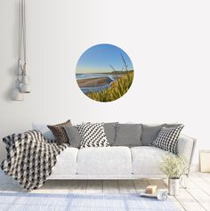 Excited to share the latest addition to my #etsy shop: Adhesive Wall Decal Dot | Golden Hour at Muriwai Beach #art #photography #landscape #circle #adhesive #beach #newzealand #coast #sunset