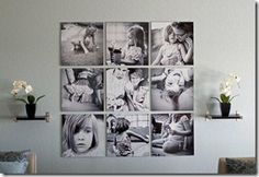 several great ways to display family photos
