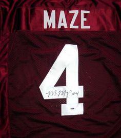 bad939117cd Alabama Crimson Tide Marquis Maze Autographed Red Jersey PSA DNA