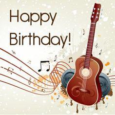 Happy Birthday Guitar, Happy Birthday Emoji, Happy Birthday Drinks, Happy Birthday Wallpaper, Happy Birthday Celebration, Birthday Wishes Flowers, Happy Birthday Wishes Images, Happy Birthday Pictures, Happy Birthday Greetings