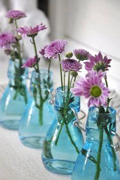 ♆ Blissful Bouquets ♆ gorgeous wedding bouquets, flower arrangements & floral centerpieces - purple mums