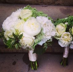 Fresh and classy for a summer wedding using hydrangeas, peonies, cow parsley and roses.