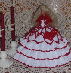 Crochet moda muñeca Barbie patrón 108 mía 1