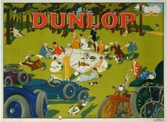 Dunlop Vintage Poster