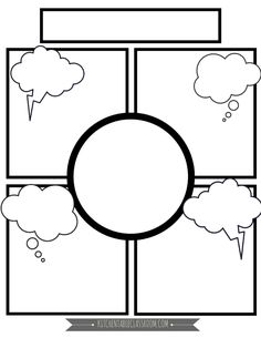 Comic Book Templates - Free Printable Pages - The Kitchen Table Classroom We write a lot.Basically any excuse for my kids to take pen to paper and I'm there.These free comic book templates printables are a fun way to keep your kids writing! Blank Comic Book Pages, Comic Book Layout, Free Comic Books, Comic Books Art, Comic Strip Template, Mind Map Art, Graphic Organisers, Mind Map Template, Templates Printable Free