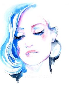 Original Watercolor Fashion Illustration by Lana Moes-pin it by carden
